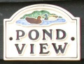 Pond View name plaque